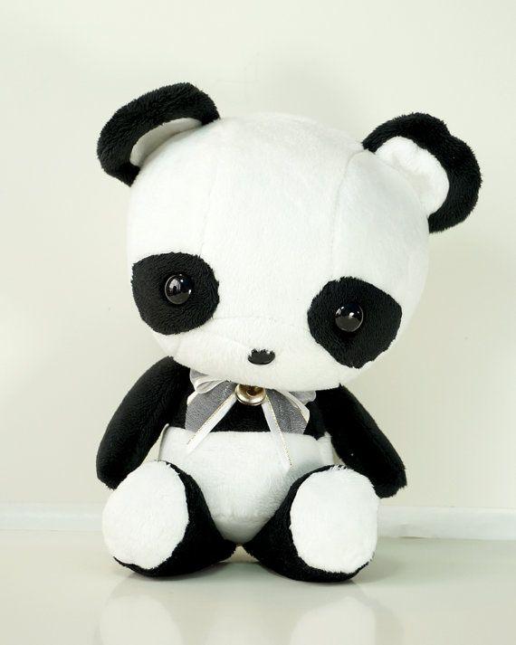 Cute Plush, Black White Contrast Panda Plush, Plush Doll - Bellzi Pandi Plushie