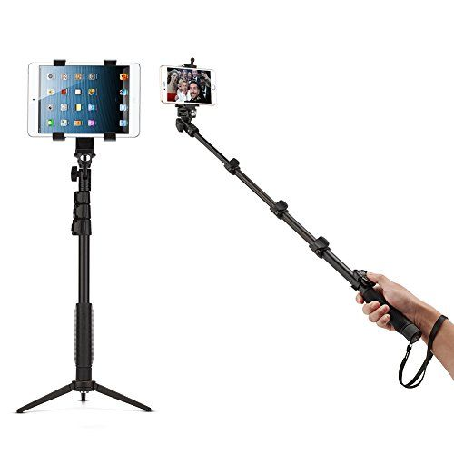bluetooth selfie stick with tripod stand for ipad and iphone accmor tm 18 5. Black Bedroom Furniture Sets. Home Design Ideas