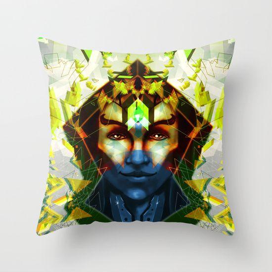 Space Man Throw Pillow