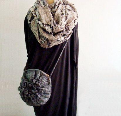 Crochet Cross Body Bag Pattern : PDF PATTERN Cross Body Bag Crochet Bag Flower