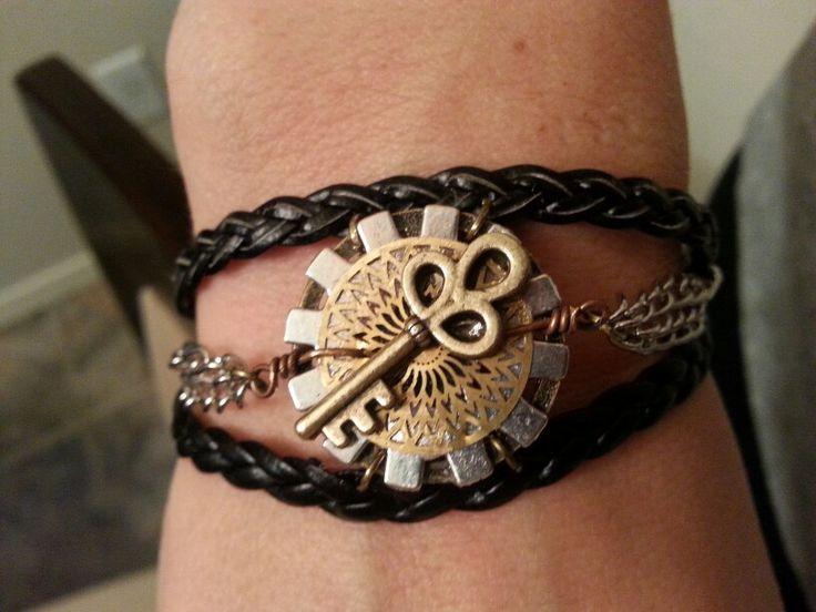 Gears & Key Bracelet