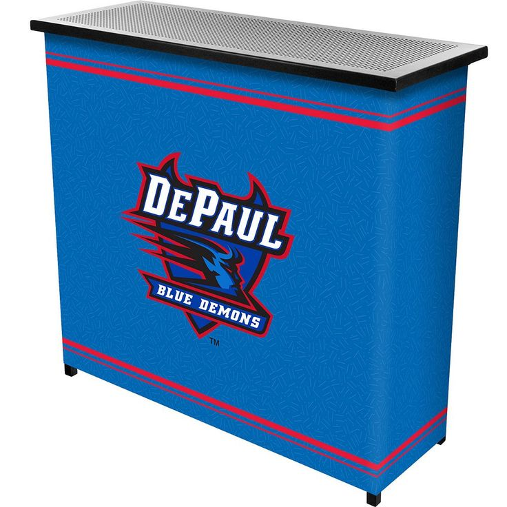 DePaul Blue Demons 2-Shelf Portable Bar with Case, Multicolor