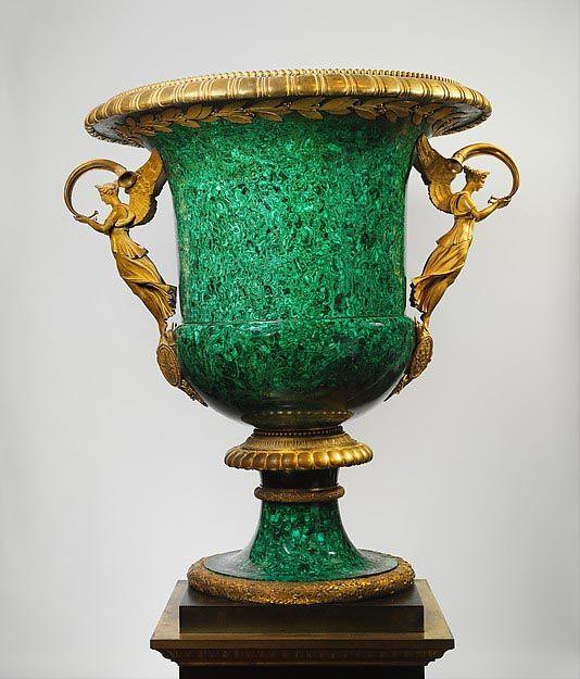 Pierre-Philippe Thomire, Demidoff Vase, 1819, Metropolitan Museum of Arts, New-York. #malachite #thomire #met #museum #nyc #demidoff #art