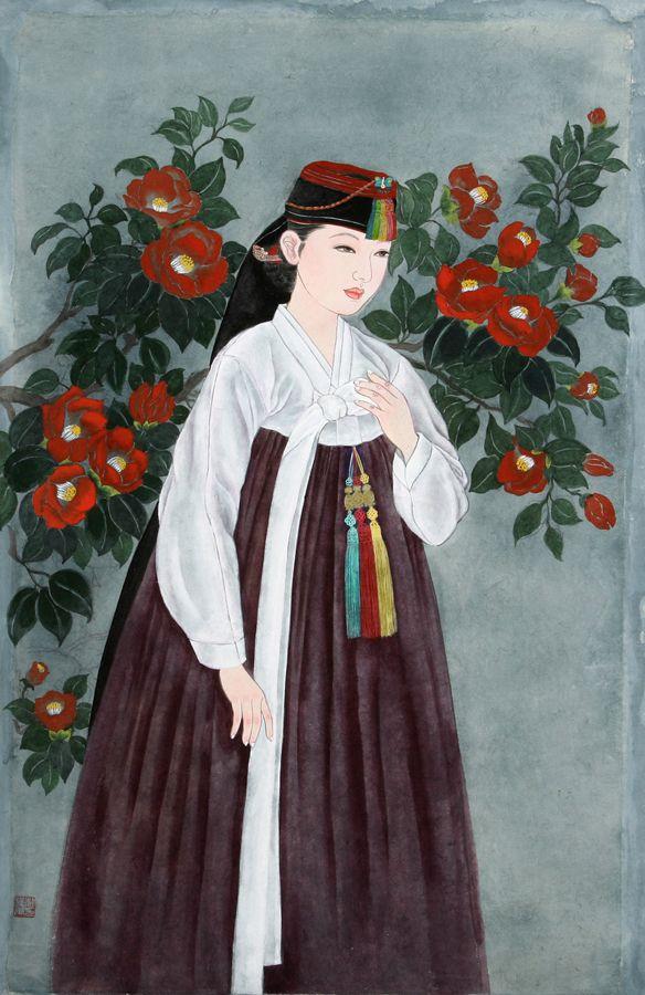 한국 전통 미인도( 화가  - 박연옥)