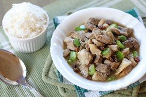 Igado is an Ilocano dish (Northern province in Philippines), it is nearly similar to Menudo but it's done the Ilocano way. Usually cooked with pigs internal organs such as kidneys, liver, lungs, heart and flavoured with Ilocos Vinegar.