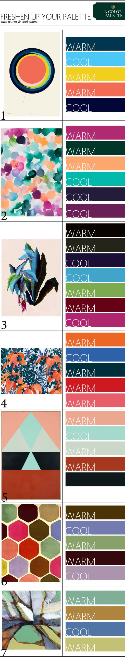 Freshen Up Your Color Palette and Mix Warm & Cool Colors