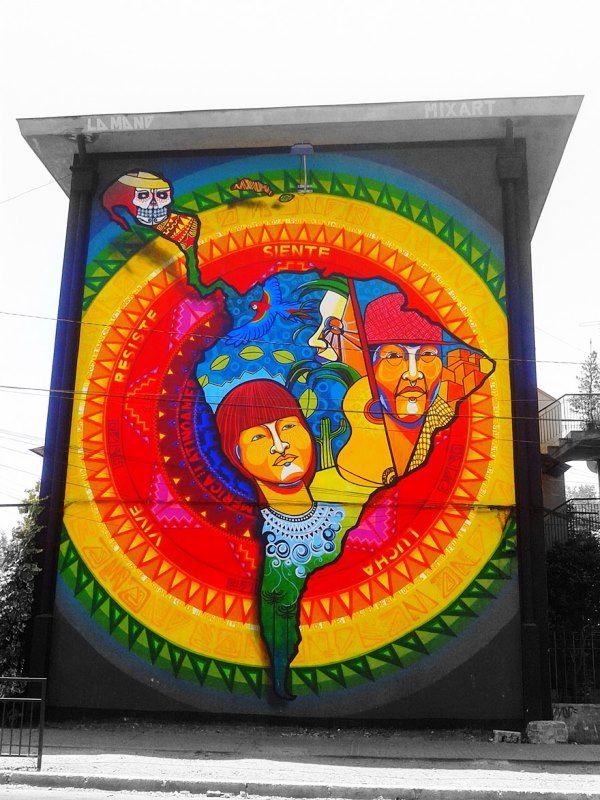 Seni Jalanan Lukisan Mural di Kota Santiago di Chile 2