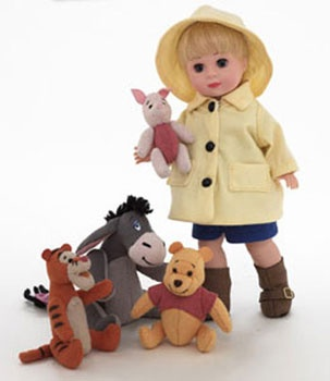 8 inch Madame Alexander Dolls - WINNIE THE POOH AND THE BLUSTERY DAY - Alexander Wendy Doll