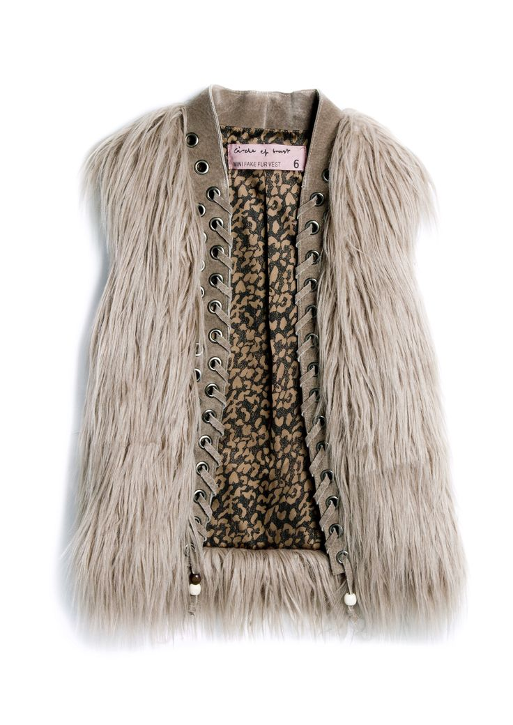 Circle of Trust Kids AW'14. This fake fur vest will make every look a little more special.