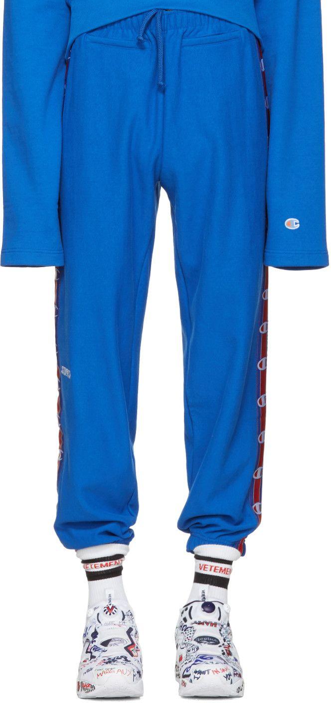 VETEMENTS Blue Champion Edition Lounge Pants. #vetements #cloth #pants