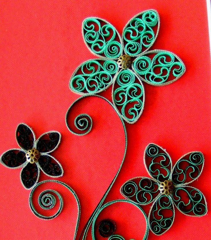 ✿ Quilling - Flower - Tutorial 6 - AidaCrafts My website: http://aidacrafts.ro/ Materials: 8 quilling stripes, quilling tool, quilling comb, scissors, glue, ...