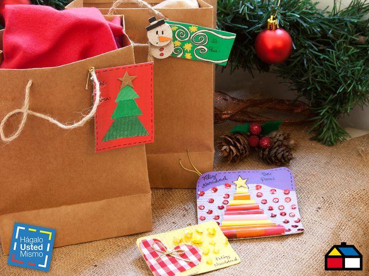 Tarjetas navideñas #HUM #DIY #Navidad