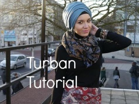 Hijab Tutorial l diagonal overlap Turban