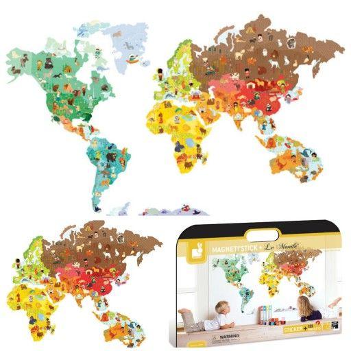 Carte du monde magnétique_Une_Magnetistick_Janod_Expressionsdenfants