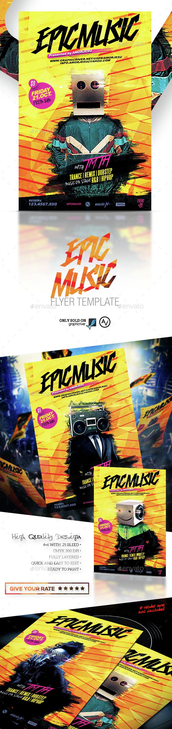 Epic Music Flyer Template PSD. Download here: http://graphicriver.net/item/epic-music-flyer-template/14940417?ref=ksioks