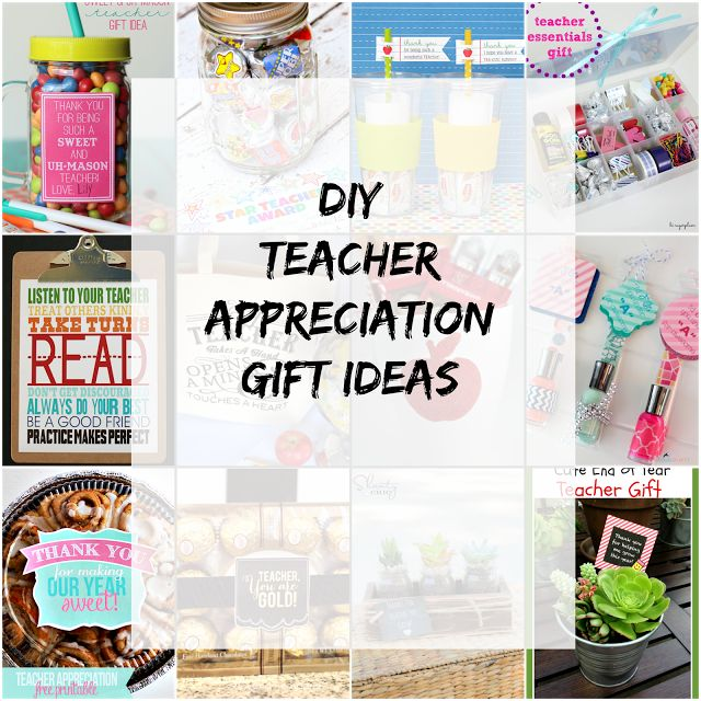 Ioanna's Notebook - 12 DIY Teacher appreciation gift ideas