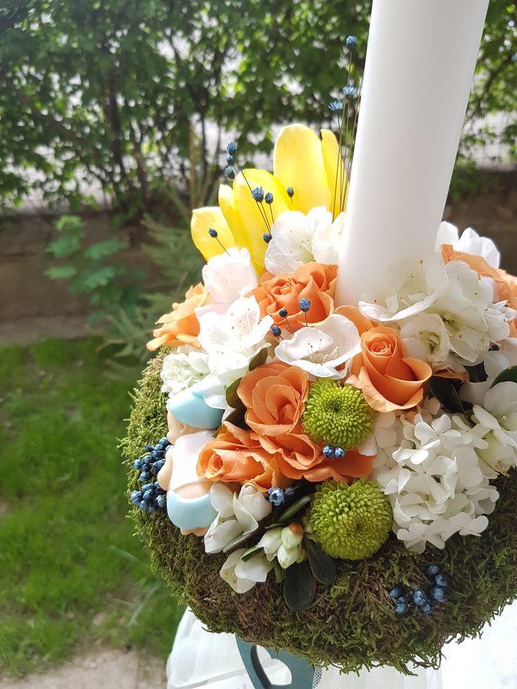 lumanare-botez-baiat-iasi-lalele-galbene-verde-maya-flowers-iasi3.jpg (1200×1600)