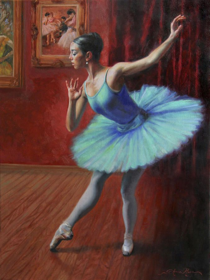 """""""A Legacy of Elegance"""" - 24x18 - oil on linen - SOLD. Painting of a classical ballerina, by Anna Rose Bain"""