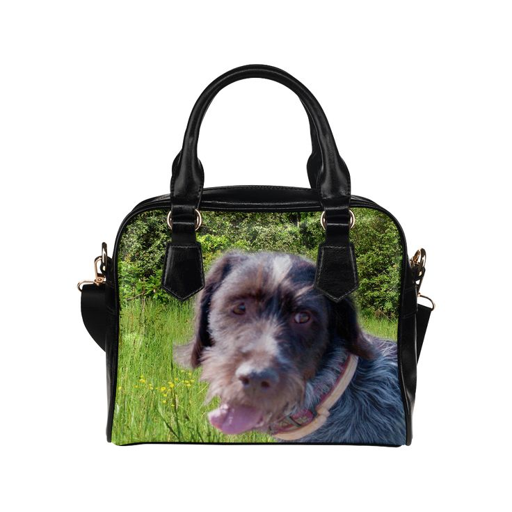 Dog and Flowers Shoulder Handbag. FREE Shipping. #artsadd #bags #dogs