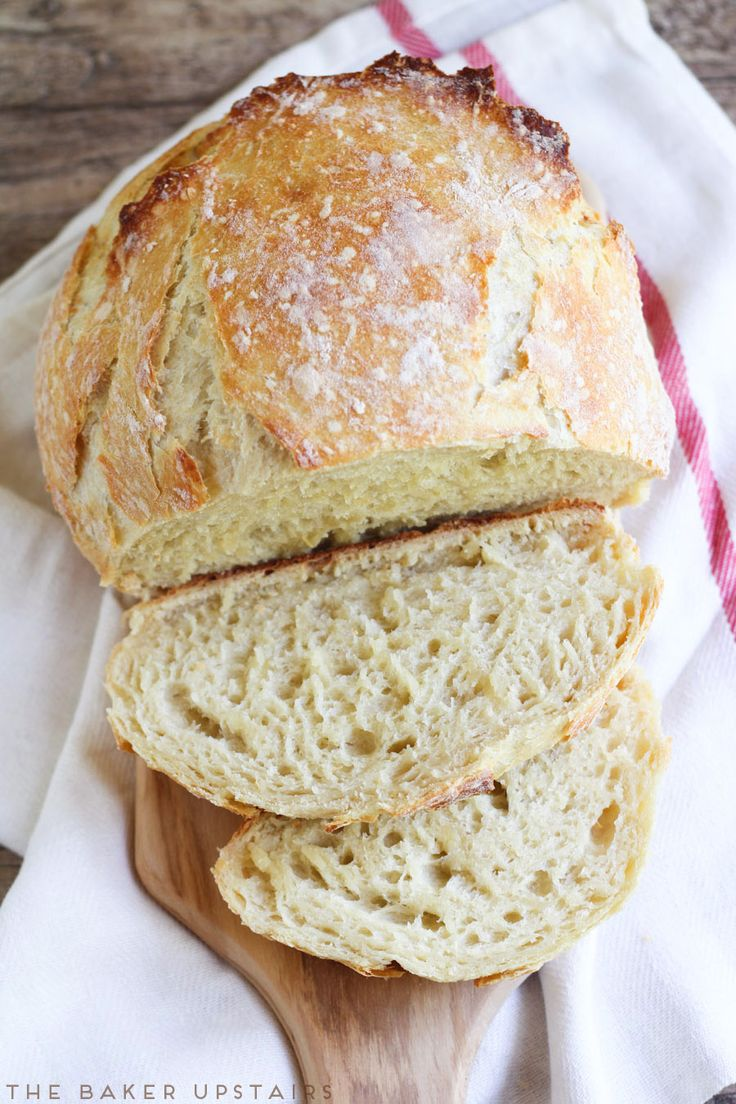 No knead dutch oven crusty bread - only 10 minutes of active time, and it is the easiest and most delicious bread you will ever make!