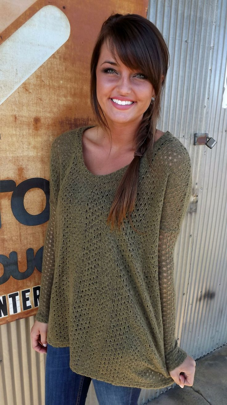 Olive Piko Knit Sweater