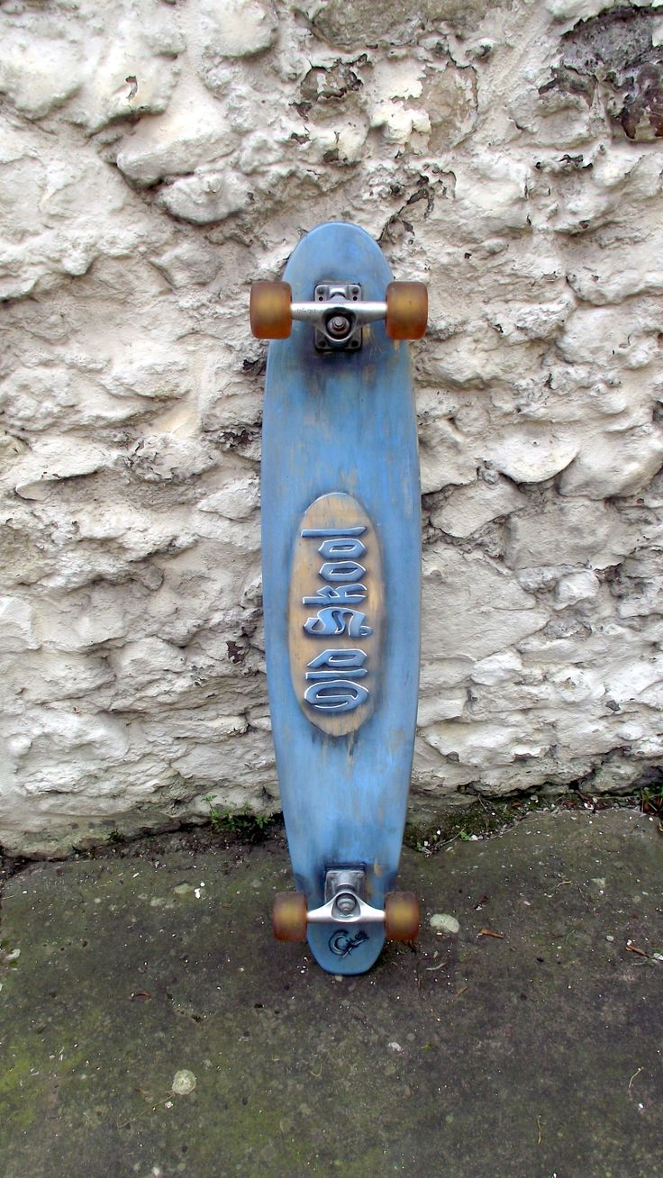 An old longboard, I gave it the distressed look, and made the Old Skool graphics look 3D