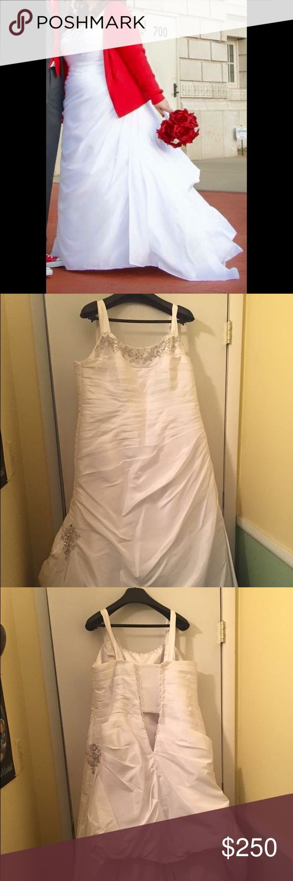 Alfred Angelo Wedding Dress Alfred Angelo wedding dress. Originally size 22 but altered to 18/20. It hasn't been cleaned but no stains (just wrinkled...it's been in a cloth bag since worn in Dec 2015). Alfred Angelo Dresses Wedding