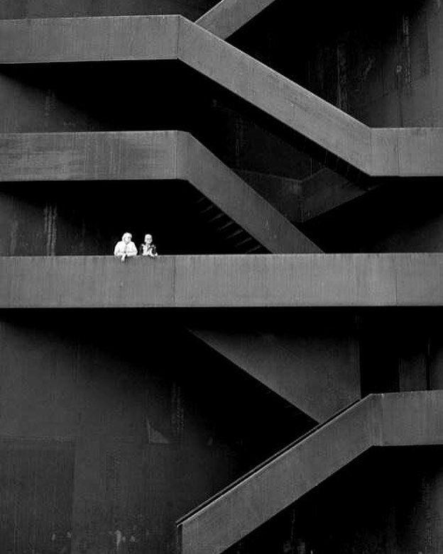 Brutalist Stairs  #architecture #mimarlık  #içmimarlık  #instamood  #designideas  #interiordesign  #renovation #homedecor #livingroom #интерьер #repost  #interior4you #design #exterior #stair #staircase #merdiven #dışmerdiven #siyah #brutalism by architect_muzeyyenbozo