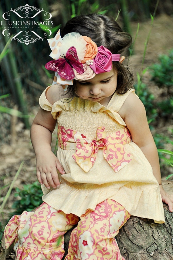 BEYOND THE PLAYGROUND 2 multi floral hairpiece for by missrubysue, $58.00