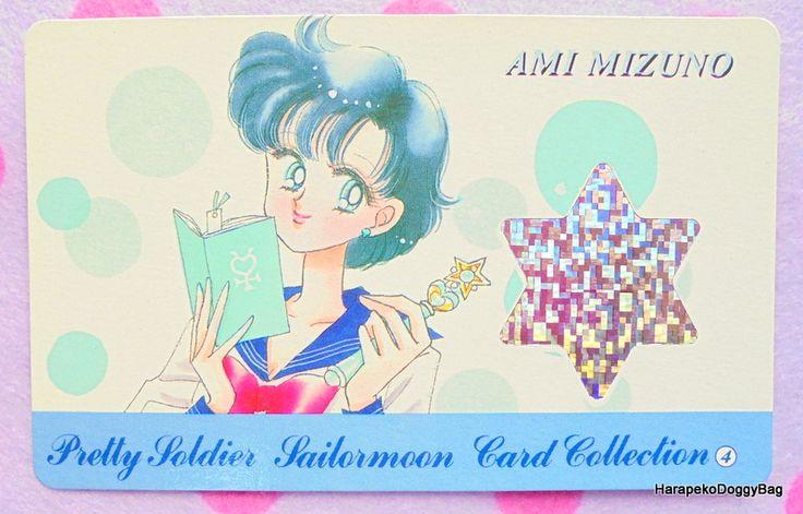 September 1993 : Japanese Anime / Shojo Manga : Nakayoshi / Nakayosi Comics Furoku : Stationery & Trading Cards : Sailor Moon : Official Card File - Super Premium Card #4 - Ami Mizuno