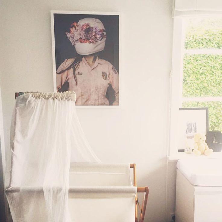 "0 Likes, 1 Comments - Jenny & Jens Brandt Grönberg (@jennyojens) on Instagram: ""Our art in this New Zealand nursery. At the home of @haylzpatience ""Flower helmet"" 50x70cm €110…"""
