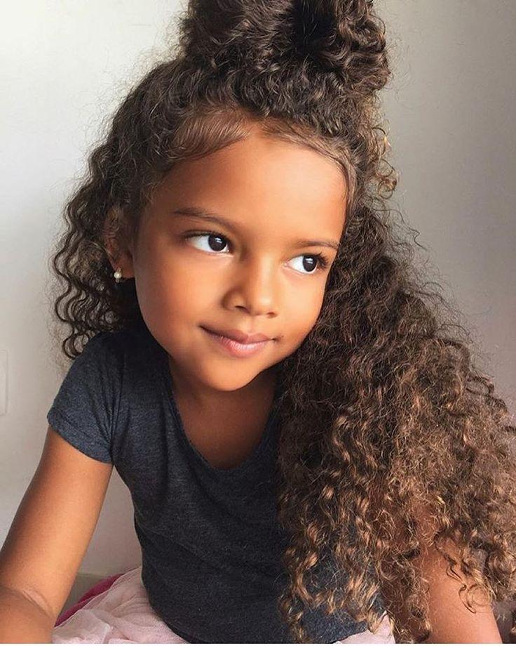 Astounding 1000 Ideas About Mixed Girl Hairstyles On Pinterest Mixed Girls Short Hairstyles For Black Women Fulllsitofus