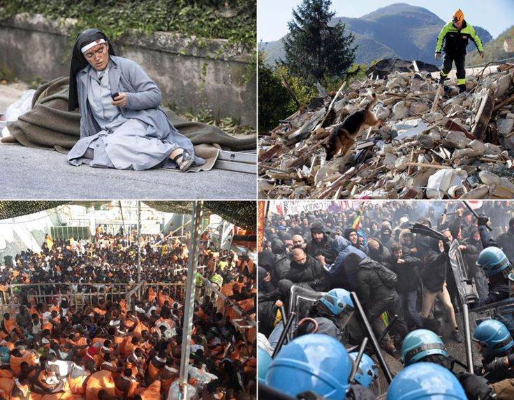 Express Pictures reports on the variety of crisis\' in Italy during 2016.