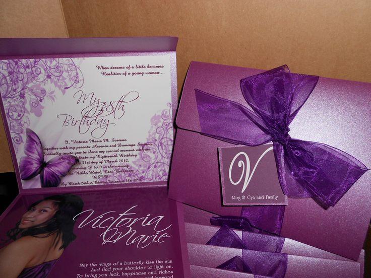 "18th birthday invitation ""debut""  invitations"