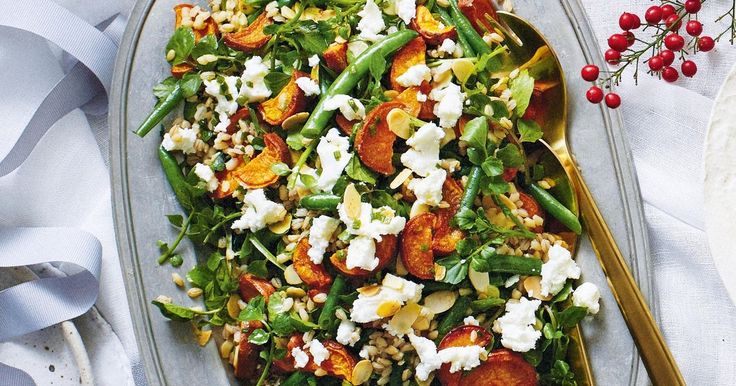 Cool down with this refreshing salad to serve with a barbecue lunch. It'll keep the crowd happy – plus you can make it ahead and dress just before serving.