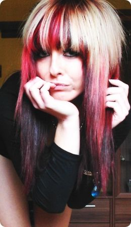 red scene hair | blonde red emo scene hair style - BiBi_BaRbArIc's photos