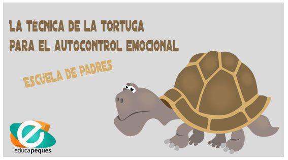 La técnica de la tortuga para trabajar el autocontrol emocional. Cuento de la tortuga, para trabajar en clase, guía para el maestro y ficha gráfica