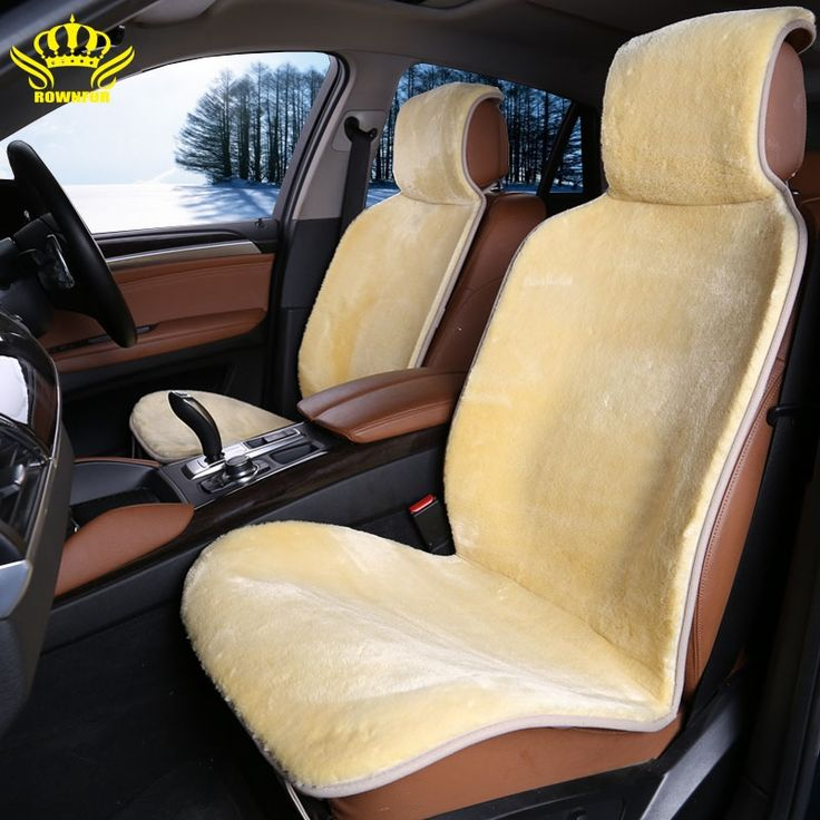 43.00$  Watch now - http://alij7l.shopchina.info/go.php?t=32487039283 - 2 pc front cars fur cape universal car seat covers for car renault logan avtochehol artificial  Yellow color 2016 sales i014-2  #aliexpress