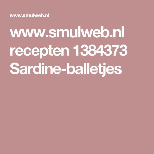 www.smulweb.nl recepten 1384373 Sardine-balletjes