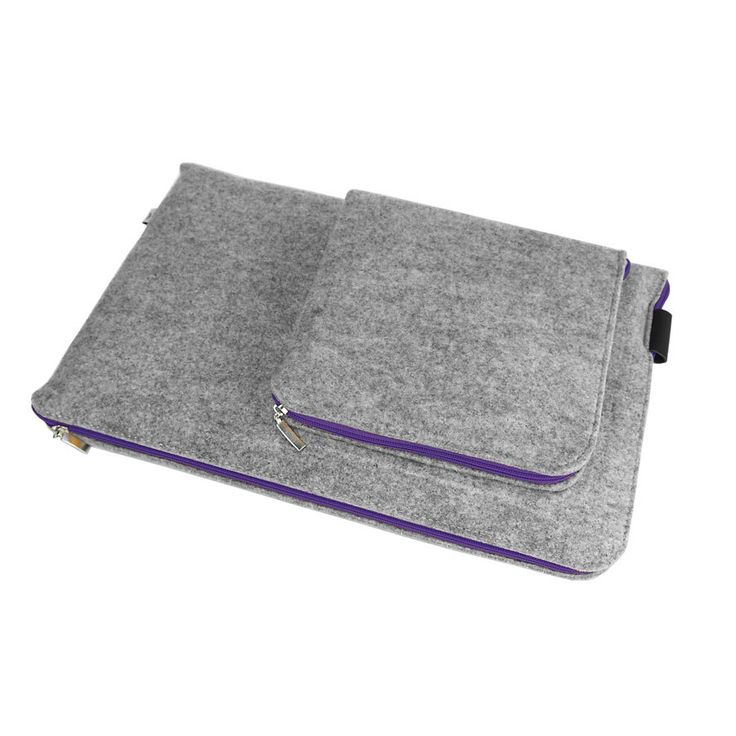 NOTEBOOK / MACBOOK COVER Felt Sleeve Laptop Case All Sizes Violet Zipper Cover with Extra Charger Pocket MacBook Air Macbook Pro by PurolDesignBags on Etsy