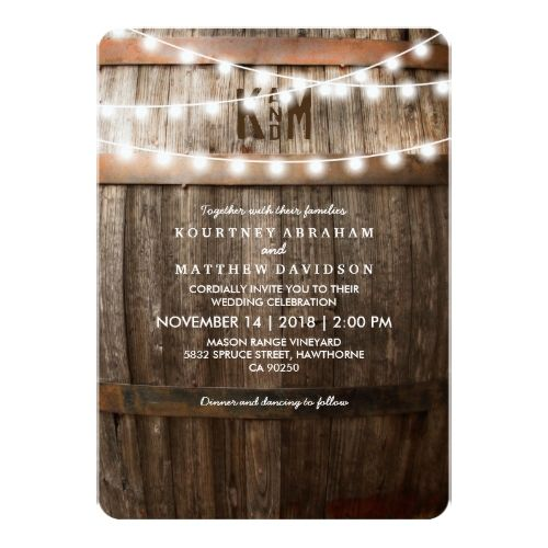 Wonderful Country Wedding Invitations, Wine Themed Wedding Invitations Are Available  At Boardman Printing