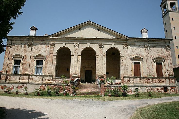 The Villa Gazzotti Grimani (1542) is a Renaissance villa, an early work of architect Andrea Palladio, located in the village of Bertesina, near Vicenza in the Veneto region of northern Italy. The villa was designed and built in the 1540s for the Venetian Taddeo Gazzotti and, like a number of Palladio's buildings, it incorporates a pre-existing structure. In 1550, before the building was completed, Gazzotti was facing financial problems  sold the villa to Girolamo Grimani.