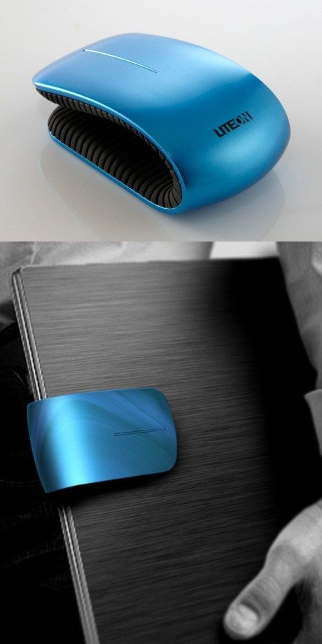 Clip mouse for on the go! Love this,  even if I am a developer who is learning not to use the mouse.