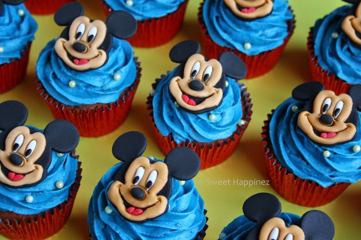 Mickey Mouse Cupcakes - How To