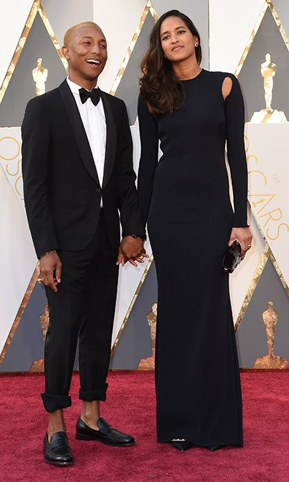 Pharrell Williams and wife Helen.