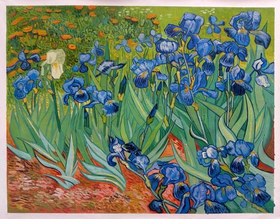 Irises Getty Vincent Van Gogh Hand Painted Oil Painting