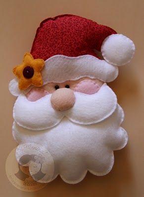Santa en fieltro o foami (goma eva)