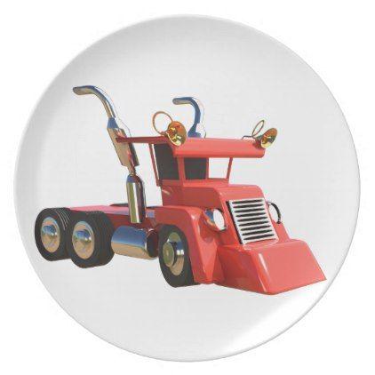 Cute truck melamine plate - kitchen gifts diy ideas decor ...