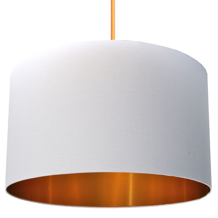 Cotton lampshade with gold lining in crisp white lovefrankie