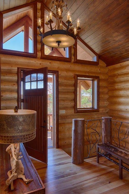 A Pella Door Completes This Rustic Texas Log Home